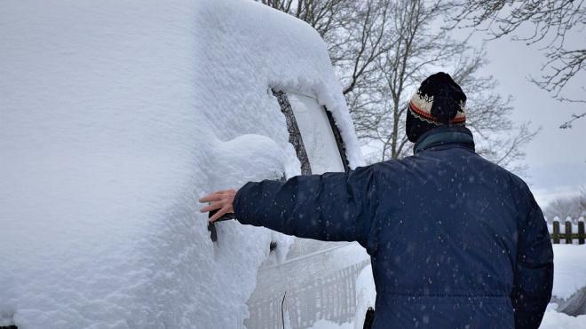 В Северной столице за день выпала среднемесячная норма снега