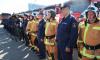 Смольный передал пожарным 15 единиц новой спецтехники