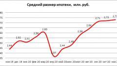 Средний размер ипотечного кредита в РФ в ноябре составил 2,73 млн рублей