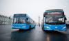 """30 автобусов в цветах """"Зенита"""" вышли на улицы Петербурга"""