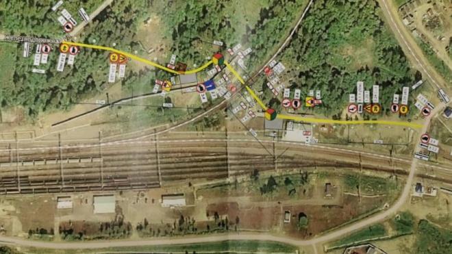 В Каменногорске разрешено движение по временному проезду для автотранспорта