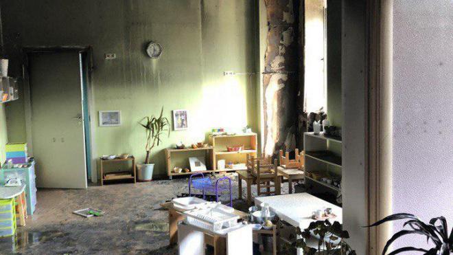 В Петербурге ярким пламенем горел детский сад
