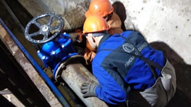 Ночью на водопроводе в Коммунаре произошла авария