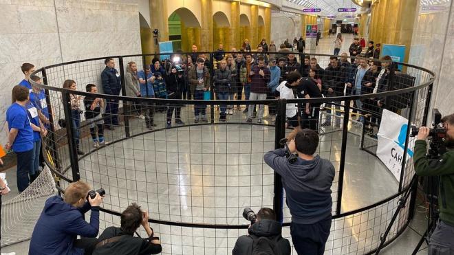 В петербургском метро начались соревнования по Panna-футбол в преддверии Евро-2020