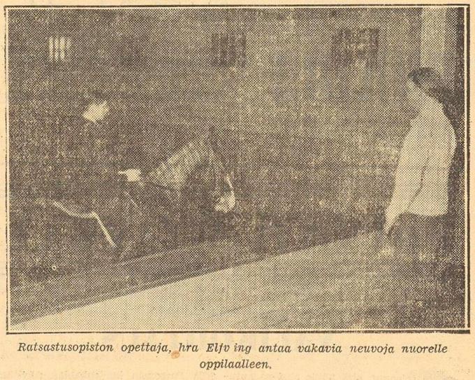 У занятий конным спортом среди гражданского населения в Выборге хороший фундамент газета Karjala