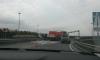 Очевидцы: на проспекте Косыгина водитель растерял два поддона пеноблоков