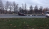 На проспекте Луначарского из-за гололеда перевернулась машина: есть пострадавшие