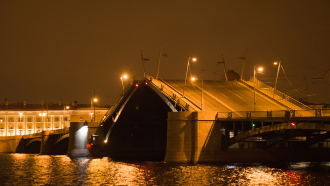 В ночь на 2 апреля разведут Биржевой мост