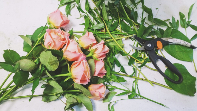 Петербургский романтик украл из магазина букет цветов