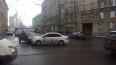 Трамваи встали в пробку на Петроградской стороне из-за Д...