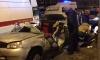 """В Петербурге """"Ладе"""" полностью снесло крышу после столкновения со столбом"""