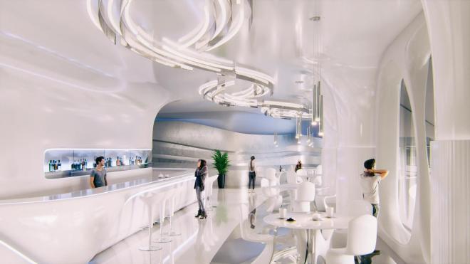 Петербуржцам показали эскизы внутренних помещений в новом спорткомплексе на месте СКК