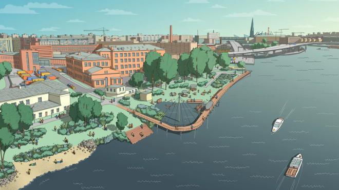 Новый парк планируют построить на набережной Макарова в Петербурге