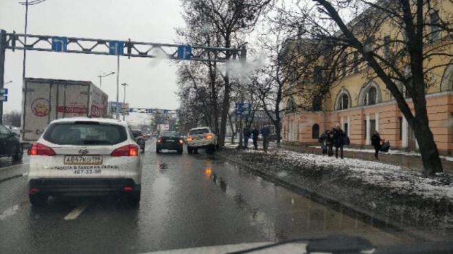 На Витебском проспекте произошло ДТП с участием такси