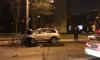Chevrolet разнес разделительный забор на проспекте Ветеранов