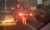 Голая петербурженка развлекала водителей в пробке на Ивановской улице