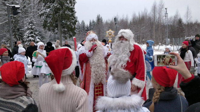 В Выборгском районе встретятся Дед Мороз и Йоулупукки