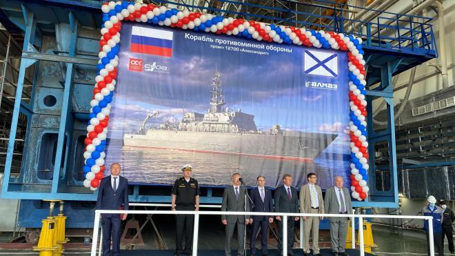 На Средне-Невском судостроительном заводе заложили корабль противоминной обороны