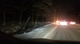 На Приморском шоссе автомобиль снес столб и оставил ...