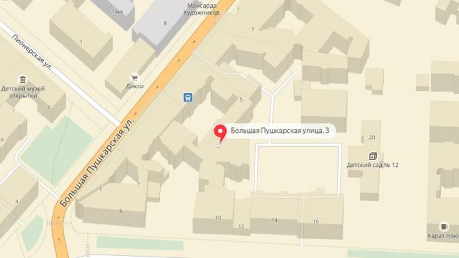 Неизвестные отломали голову статуи на доме Ахматовой