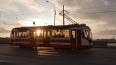 Трамвай сошел с рельсов на перекрестке Ириновского ...