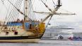 """Корабль """"Полтава"""" пришвартуется на Английской набережной ..."""