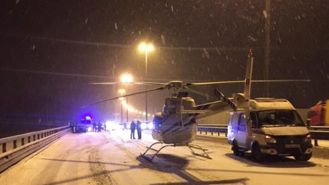 Из-за аварии на КАДе пришлось вызывать вертолет для эвакуации пострадавших
