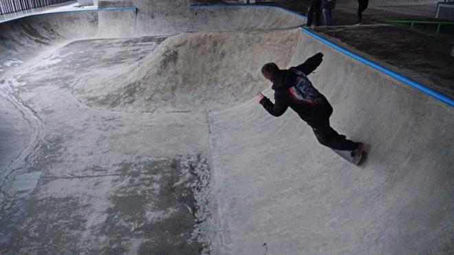 Под Коломяжским путепроводом открылся скейт-парк и памп-трек