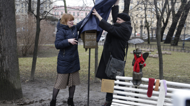 Ангел в Измайловском саду начал принимать письма петербуржцев