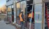 Смольный снес незаконные кафе и павильоны в четырех районах Петербурга