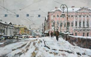 """Выставка картин Павла Еськова """"Снег идет"""""""