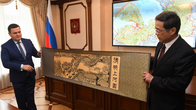 Вице-губернатор Ленобласти по внутренней политике встретился с делегацией побратимского региона Китая