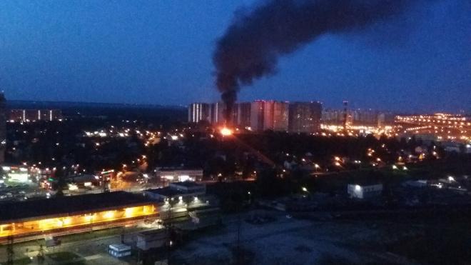 Ночью в Мурино горел частный дом площадью 120 кв. метров