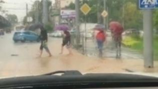 """Автохам на """"Лексус"""" во Владивостоке облил пешеходов грязной водой и получил штраф"""