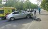 На Подводника Кузьмина водитель сбил велосипедиста на тротуаре