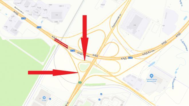 На развязке КАД с Таллинским шоссе полностью перекроют движение в ночь на пятницу