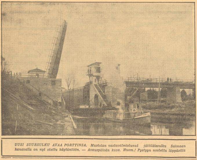 Открытие Сайменского канала 1935 год Газета Karjala