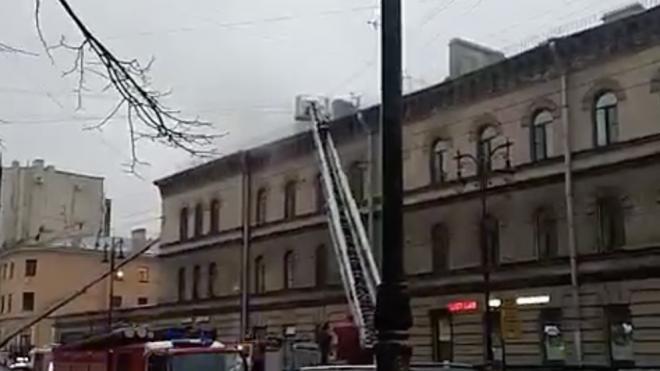 В Петербурге ликвидировали горение в здании XIX века на Кирочной улице