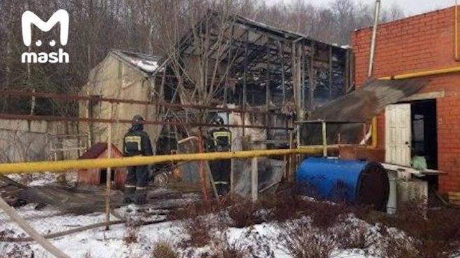При взрыве газа на пожаре в Московской области погиб спасатель