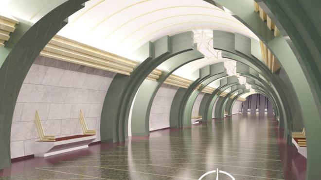 """В КРТИ показали, как будут выглядеть станции """"коричневой"""" ветки метро"""