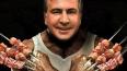 Украина смеется над портретами Яценюка, Саакашвили ...
