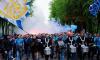 """Болельщики """"Зенита"""" в честь последнего матча сезона устроили яркое шествие"""