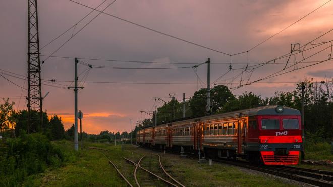 Сильный ветер задержал электрички под Петербургом