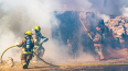 В центре Москвы тушат крупный пожар третьей степени