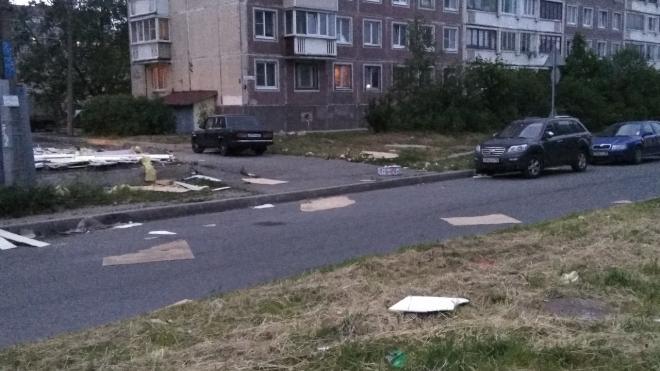 В Горелово дом снесли, а мусор забыли: рабочие оставили после себя непроходимую свалку