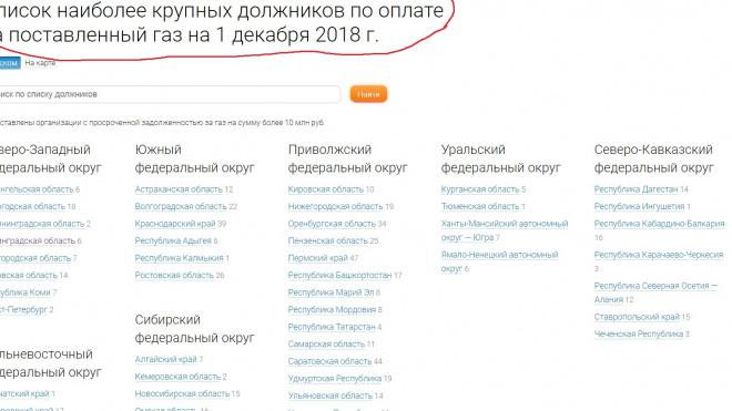 """Снова фейк: новость о попадании ВТЭ в список должников """"Газпрома"""" оказалась прошлогодней"""
