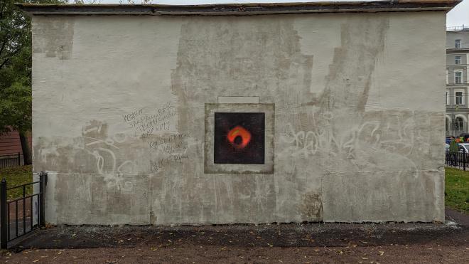 """Вместо закрашенного изображения Би Би Кинга на Греческом проспекте появилась """"черная дыра"""""""