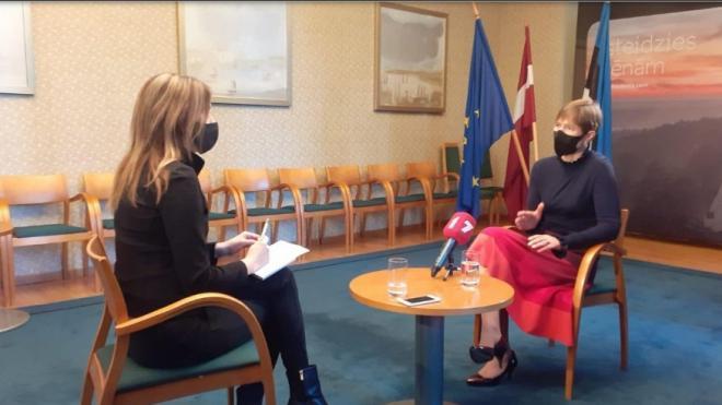 Президент Эстонии выступила за продолжение диалога с Россией