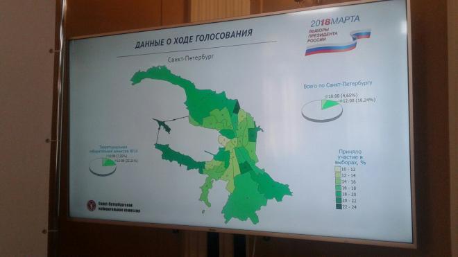 Названы районы Петербурге, где жители голосуют наиболее активно