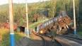 Поезда в районе крушения поездов в Челябинской области ...